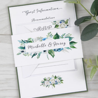 Sophia Parcel Wedding Invitation