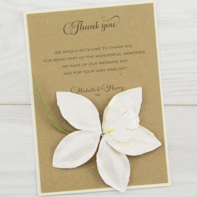 Angel Orchid Thank you Card