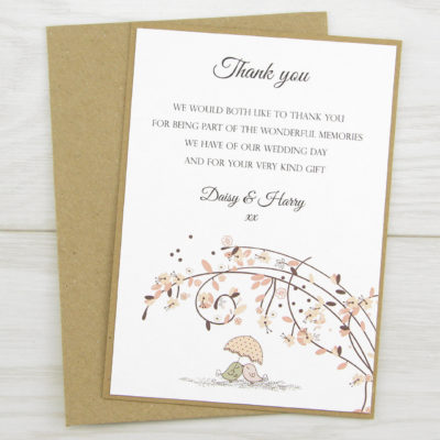Love Birds Thank you Card