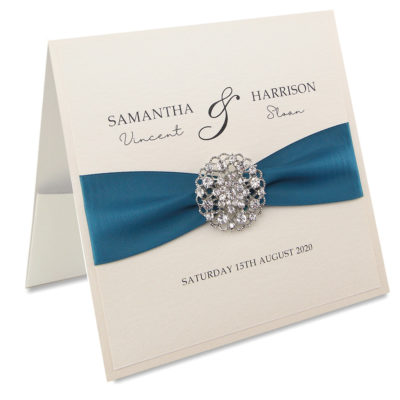 Avril with Embellishment Pocketfold Wedding Invitation