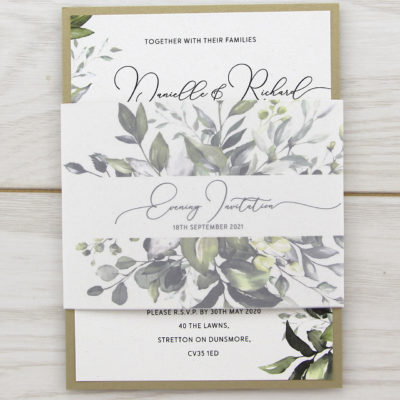 Bryony Greenery Parcel Wedding Invitation