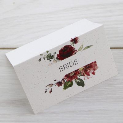 Bryony Claret Place Card