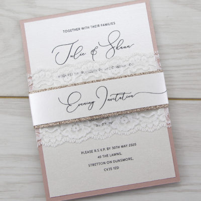 Belle Glitter Parcel Wedding Invitation