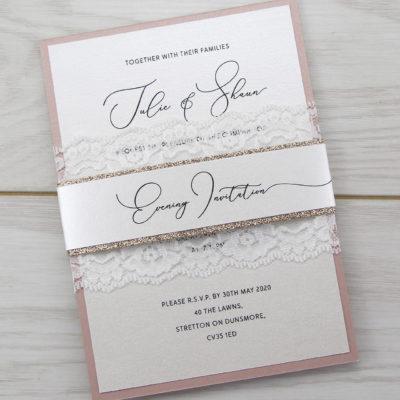 Belle Glitter Parcel Wedding Invitation