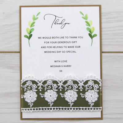 Meghan Thank you Card