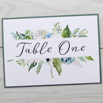 Sophia Table Name / Number