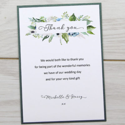 Sophia Thank you Card