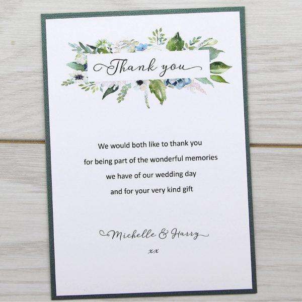 Sophia Thank You Card Pure Invitation Wedding Invites