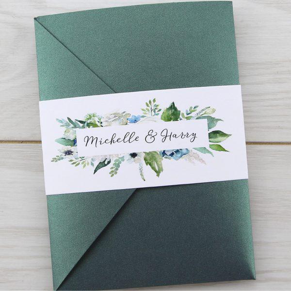 Wedding Invitations Pocketfold: Sophia Pocketfold Wedding Invitation