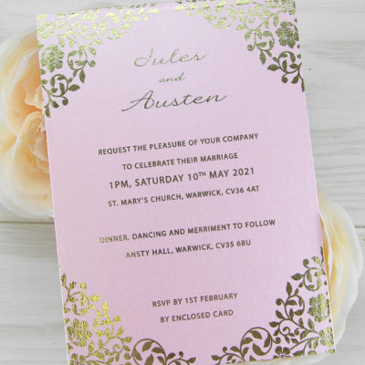 Austen Wedding and Evening Invitation