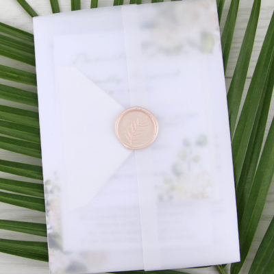 Fleur Wedding and Evening Invitation