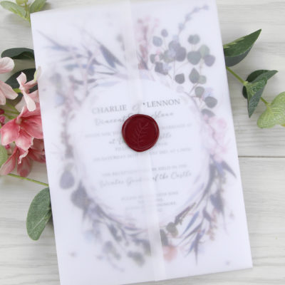 Jasmine Wedding Invitation A5 size