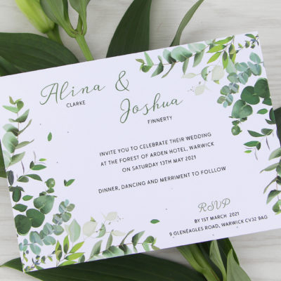 Meadow Wedding and Evening Invitation