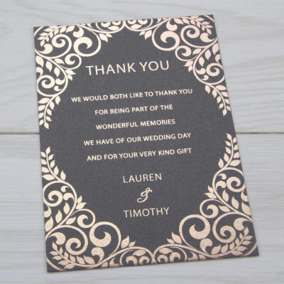 Aurora Thank you Card