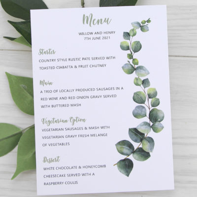 Breeze Greenery Menu
