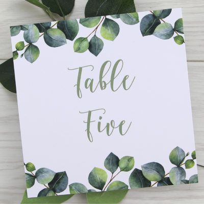 Breeze Table Name / Number