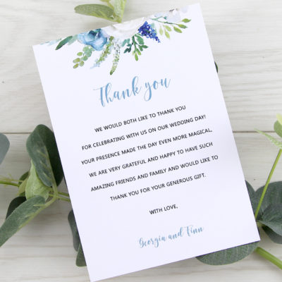 Finley Thank you Card