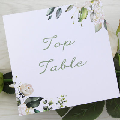 Fleur Table Name / Number