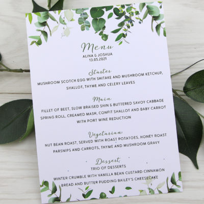 Meadow Menu