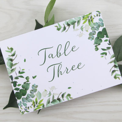 Meadow Table Name / Number