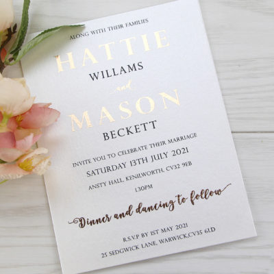 Mason Wedding and Evening Invitation