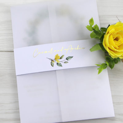 Carmel Wedding Invitation