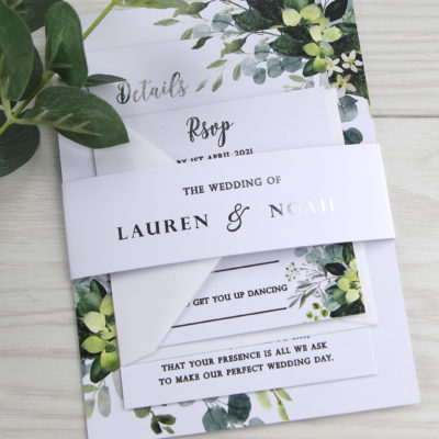 Lauren Greenery Wedding Invitation