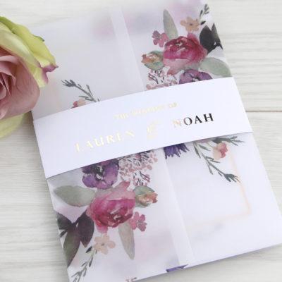 Lauren Pinks Wedding Invitation