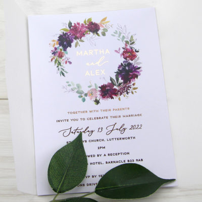 Martha Wedding Invitation