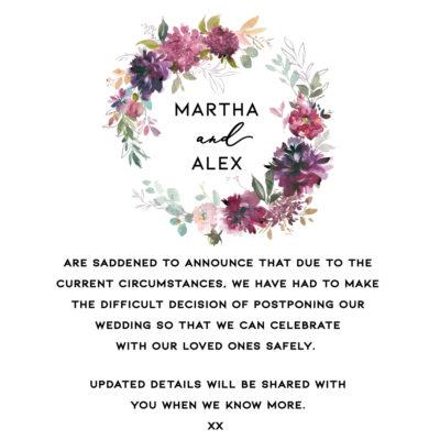 Martha Postponement Note – Digital