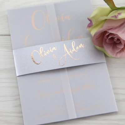 Olivia Wedding and Evening Invitation