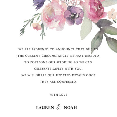Lauren Pinks Postponement Note – Digital