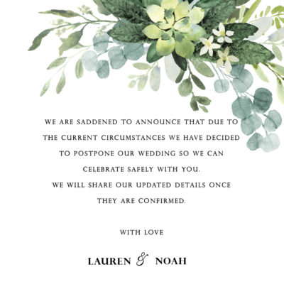 Lauren Greenery Postponement Note – Digital