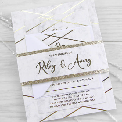 Riley Wedding and Evening Invitation