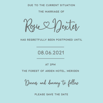 Rosie Postponement Note – Digital