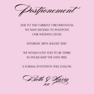 Ruby Postponement Note – Digital