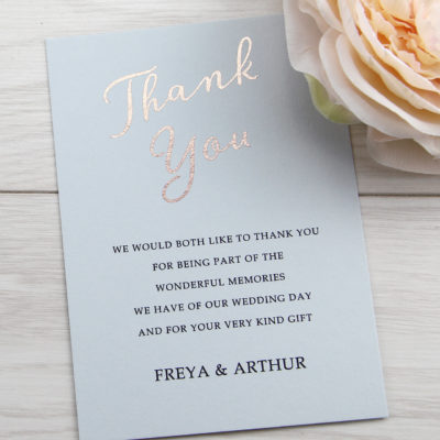 Skyler Thank you Card