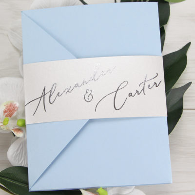 Alexander Pocketfold Wedding Invitation