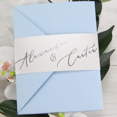 Alexander Pocketfold Wedding Invitation