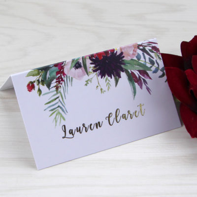 Lauren Claret Place Card