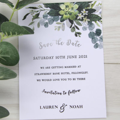 Lauren Greenery Save the Date