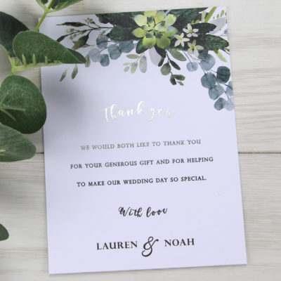 Lauren Greenery Thank you Card