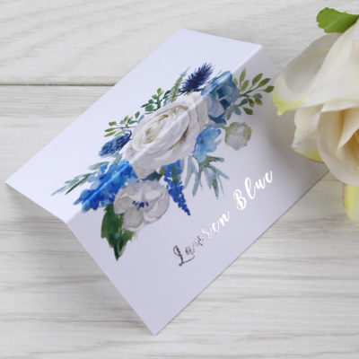 Lauren Ivory and Blue Place Card
