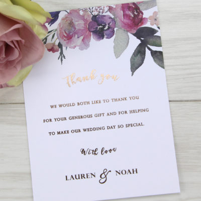 Lauren Pinks Thank you Card
