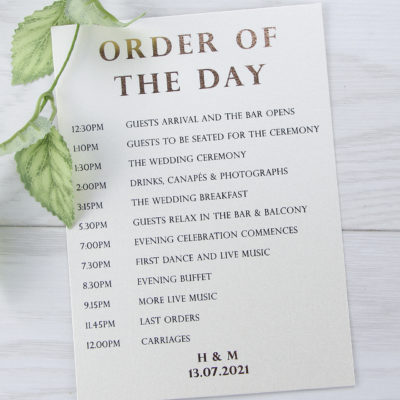 Mason Order of the Day