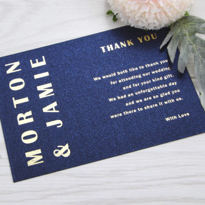 Morton Thank you Card