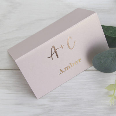 Amber Place Card