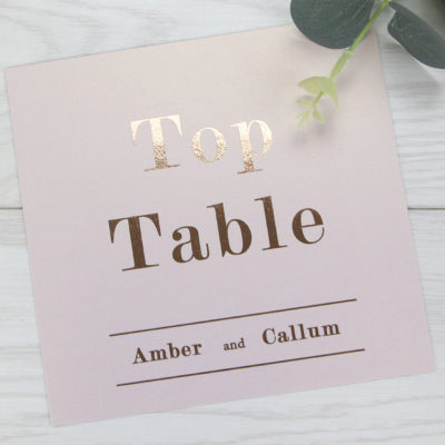 Amber Table Name / Number