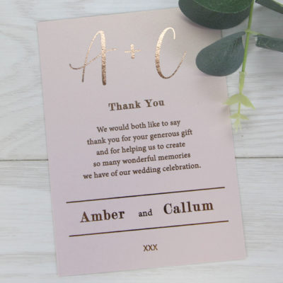 Amber Thank you Card