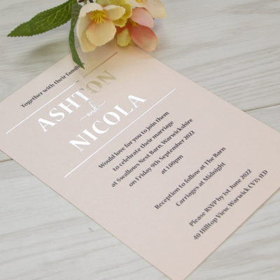 Ashton Wedding and Evening Invitation